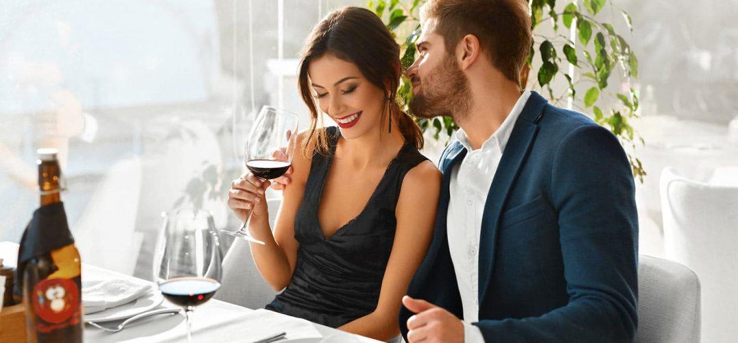 Couple enjoying a nice dinner