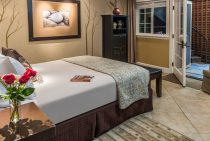 Romantic bedroom in the Stone Pine Room