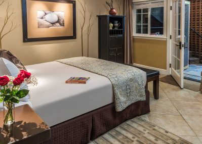 Romantic bedroom in the Stone Pine Room