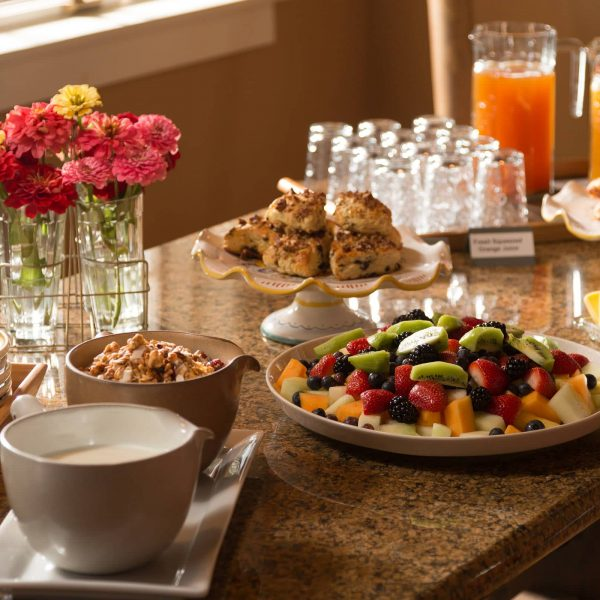 Breakfast Spread with Fresh Fruit & More
