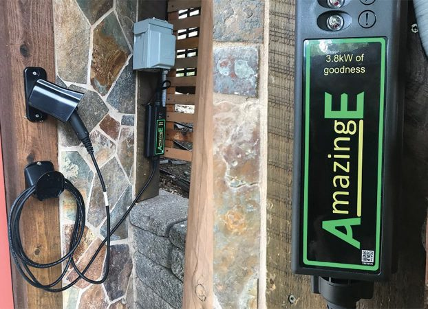 Charging station at Eden Vale Inn for AmazingE