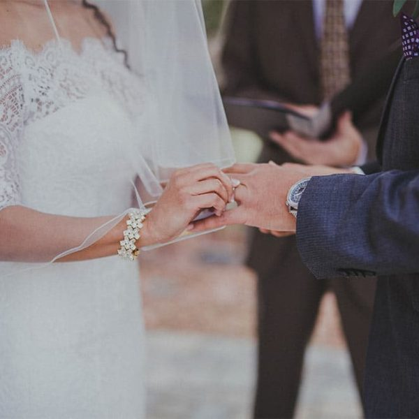 Exchanging Wedding Rings during ceremony