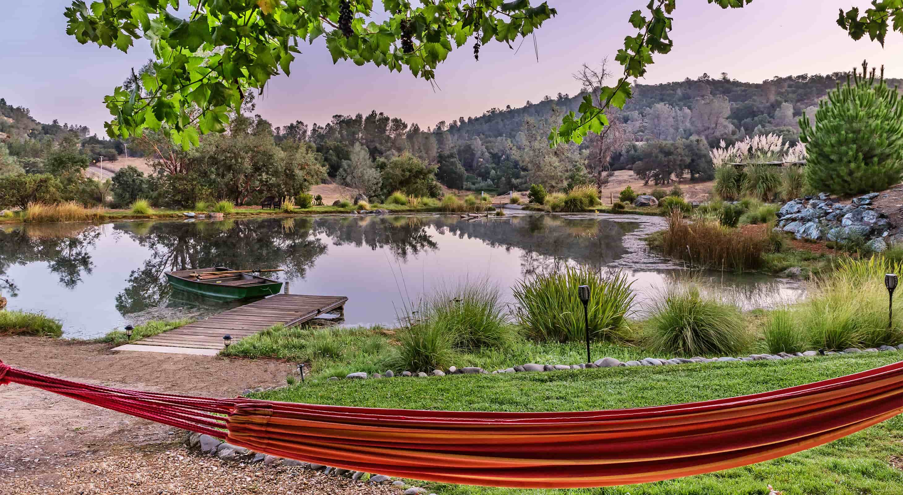 View of our Pond with a Hammock