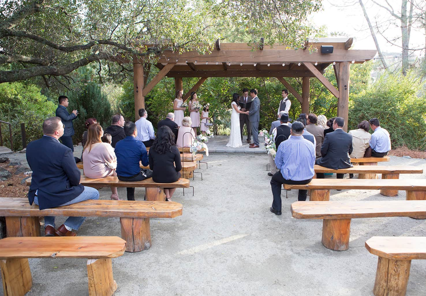 Wedding Pavilion with guests