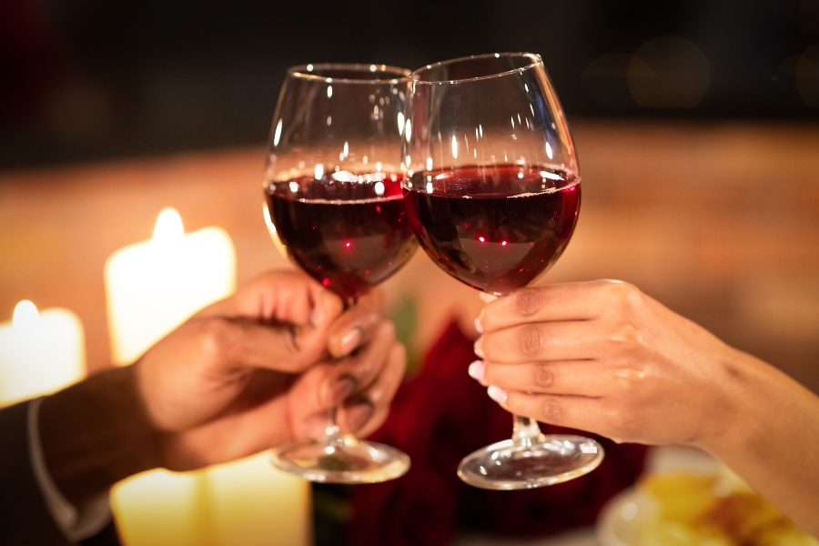 Toast Red Wine on Your Anniversary Getaway in California
