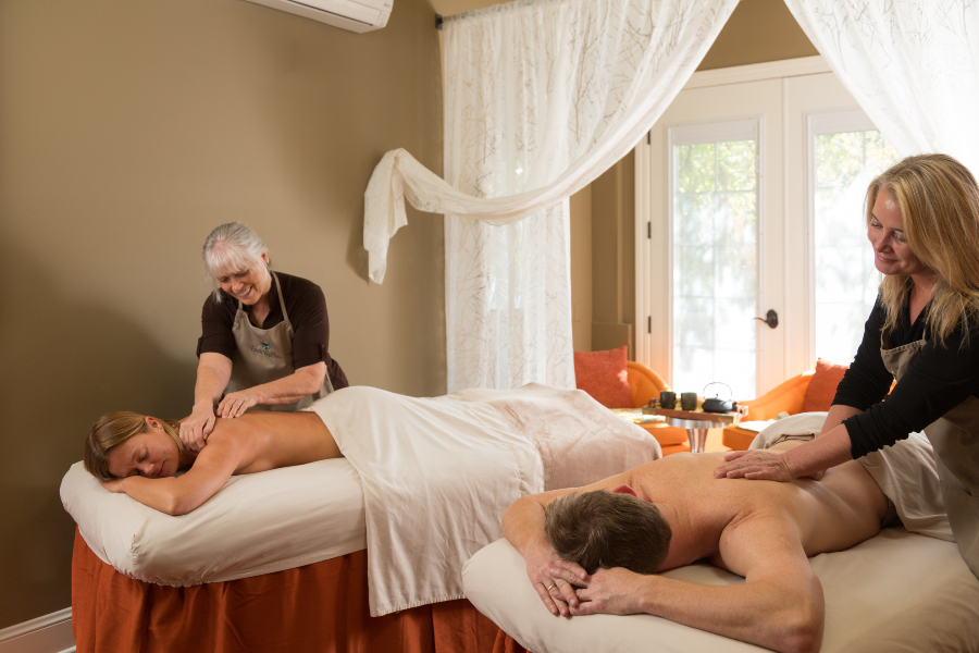 Relaxing Couples Massage on Northern California Anniversary Getaway