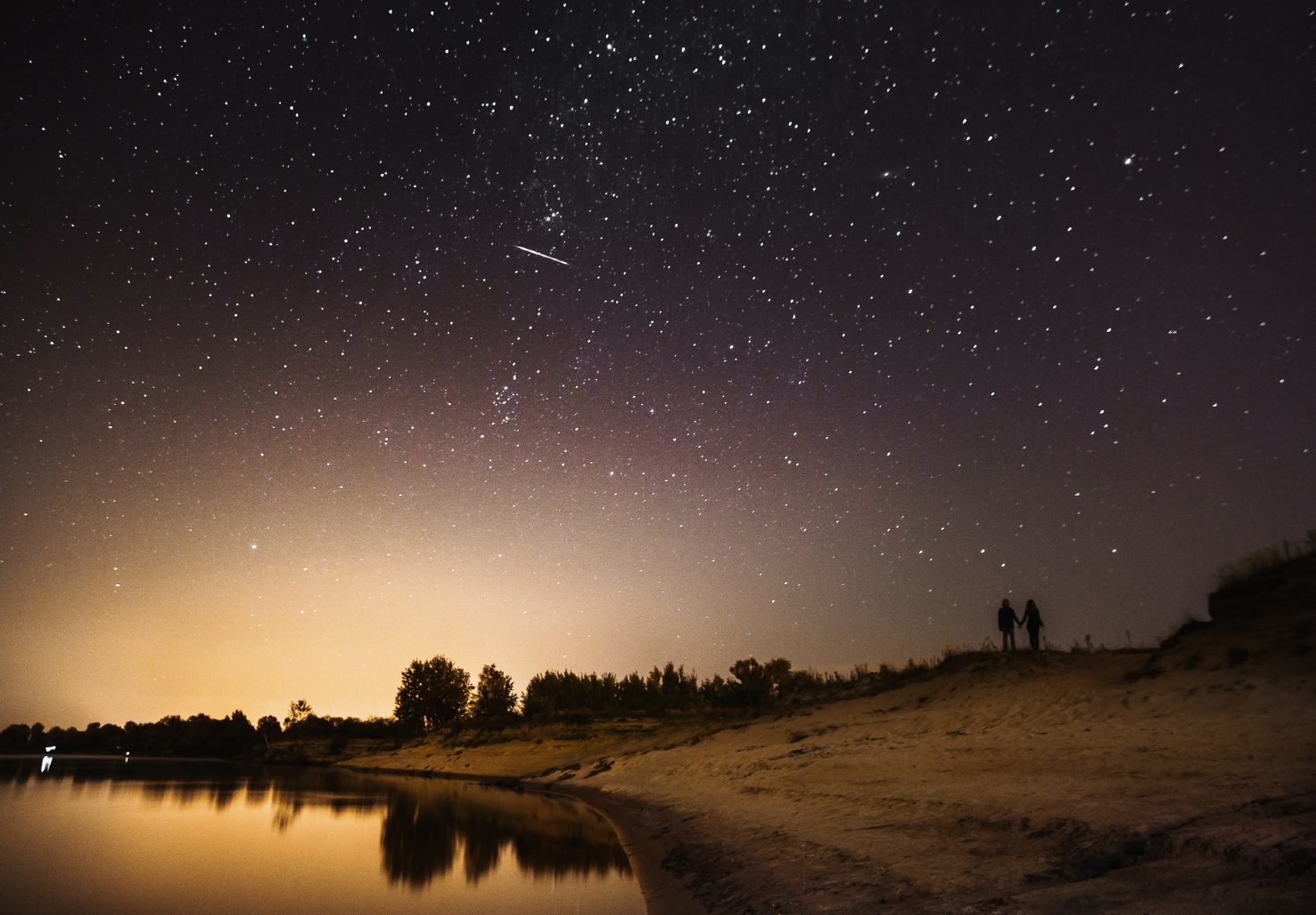 Couple under the stars in Gold Country, California