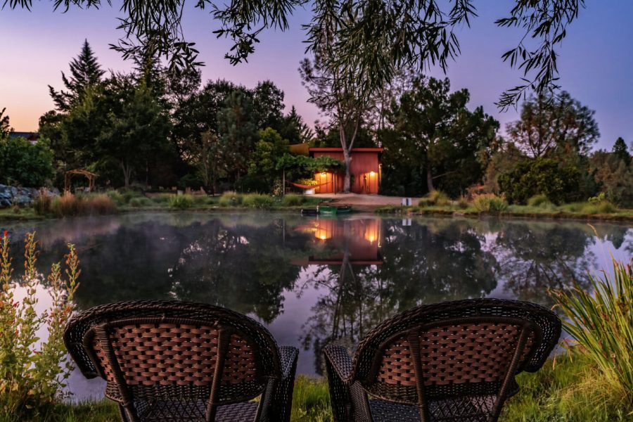 stunning view from the pond near Sacramento - luxury lodging