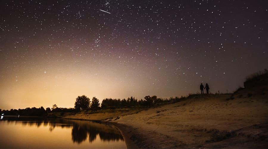 Stargazing by the pond at Eden Vale Inn